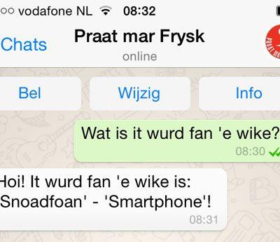Praat mar Frysk op WhatsApp