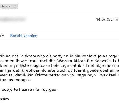 Earste Fryske Google Translate-spam?