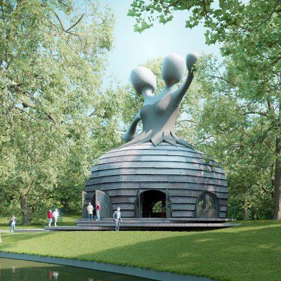 Afûk en BUOG bouwe in Talepaviljoen yn de Ljouwerter Prinsetún