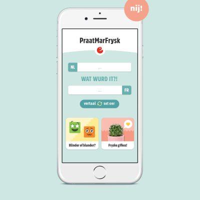 De fernijde Praat mar Frysk-app: altyd in Frysk wurdboek by dy!